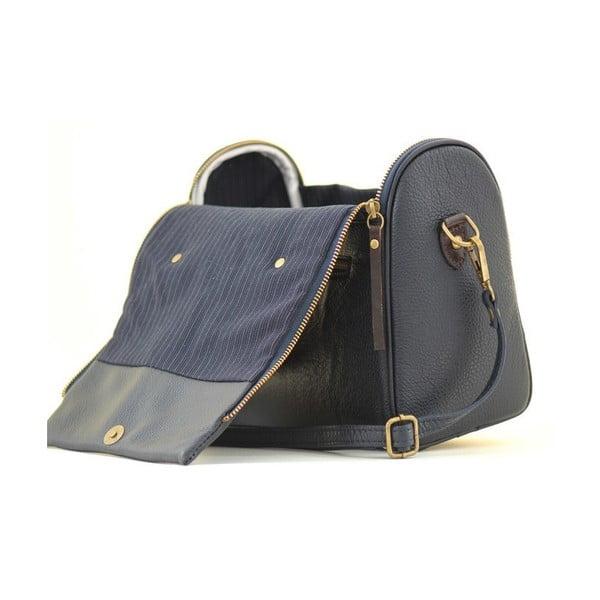 Kožená kabelka Dolce Diana Blu Navy
