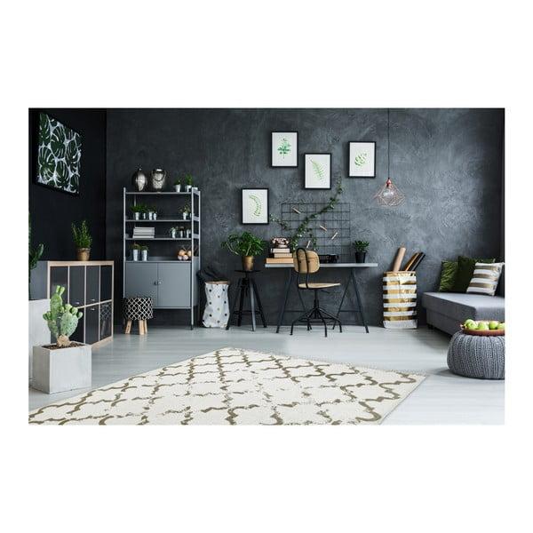 Ručně tkaný bavlněný koberec Obsession My Stockholm Taupe, 120 x 170 cm