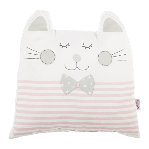 Pernă decorativă Apolena Pillow Toy Big Cat, 29 x 29 cm, roz