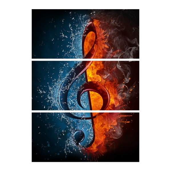 3dílný obraz Hořím pro hudbu