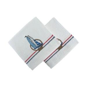 Sada 2 ručníků  Marina White Yelken, 50x90cm
