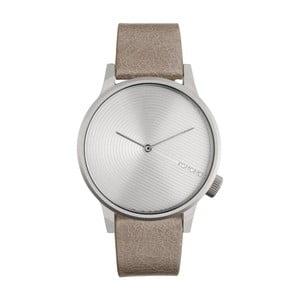 Pánské béžové hodinky s koženým řemínkem Komono Deco