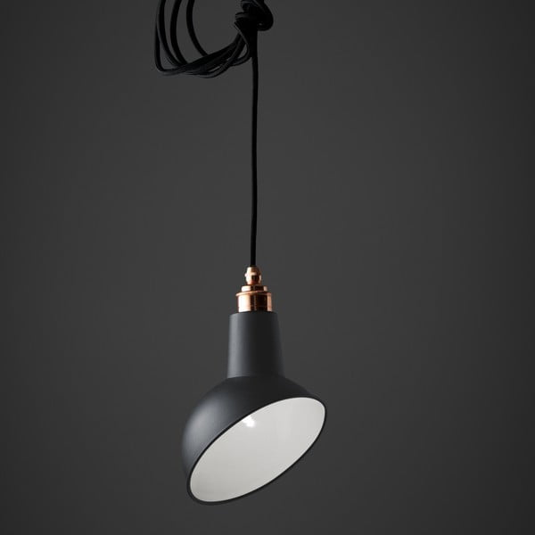 Závěsné světlo Miniature Angled Cloche Grey