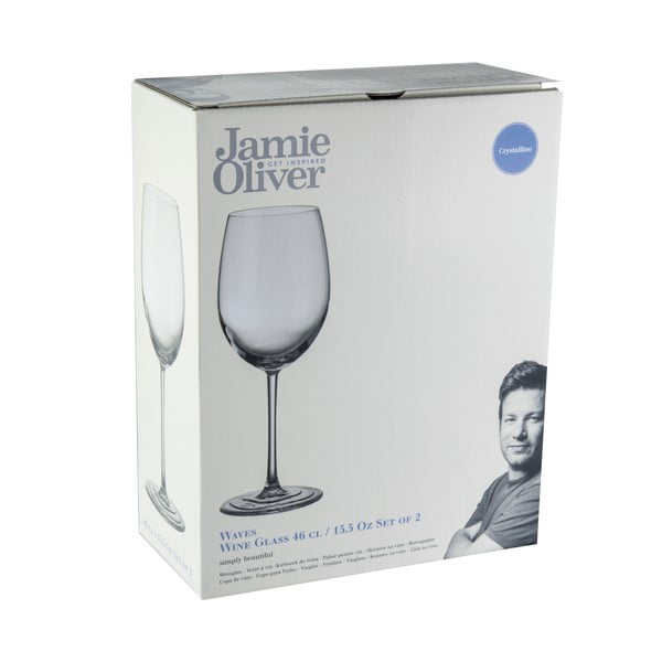 Sada 2 sklenic na víno Jamie Oliver Waves, 460 ml