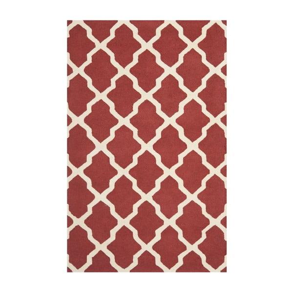 Vlněný koberec Safavieh Ava Red, 243 x 152 cm