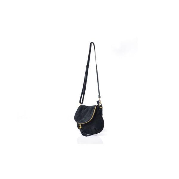 Kožená kabelka Louise, černá