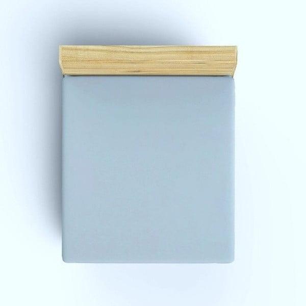 Bledě modré bavlněné prostěradlo, 100x200cm