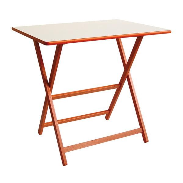 Oranžový skládací stůl z bukového dřeva Valdomo Papillon, 60x80cm