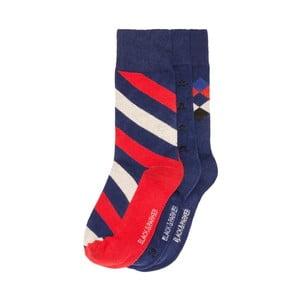 Sada 3 párů vysokých unisex ponožek Black&Parker London Oxley,velikost37/43