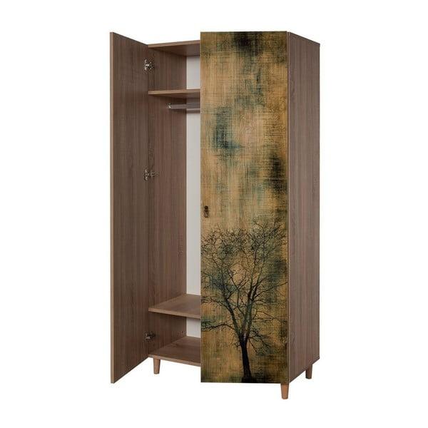 Dřevěná šatní skříň Ursula Tree