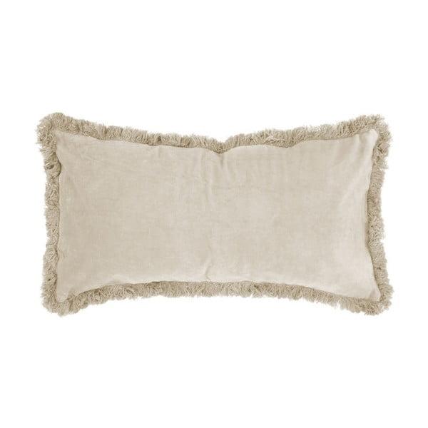 Pernă cu suprafață din catifea PT LIVING, 60 x 30 cm, alb crem