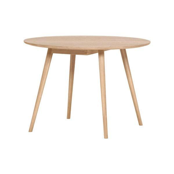 Světle hnědý jídelní stůl WOOD AND VISION Round, ⌀ 105 cm