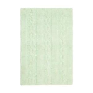 Zelený bavlněný ručně vyráběný koberec Lorena Canals Braids, 80x120cm