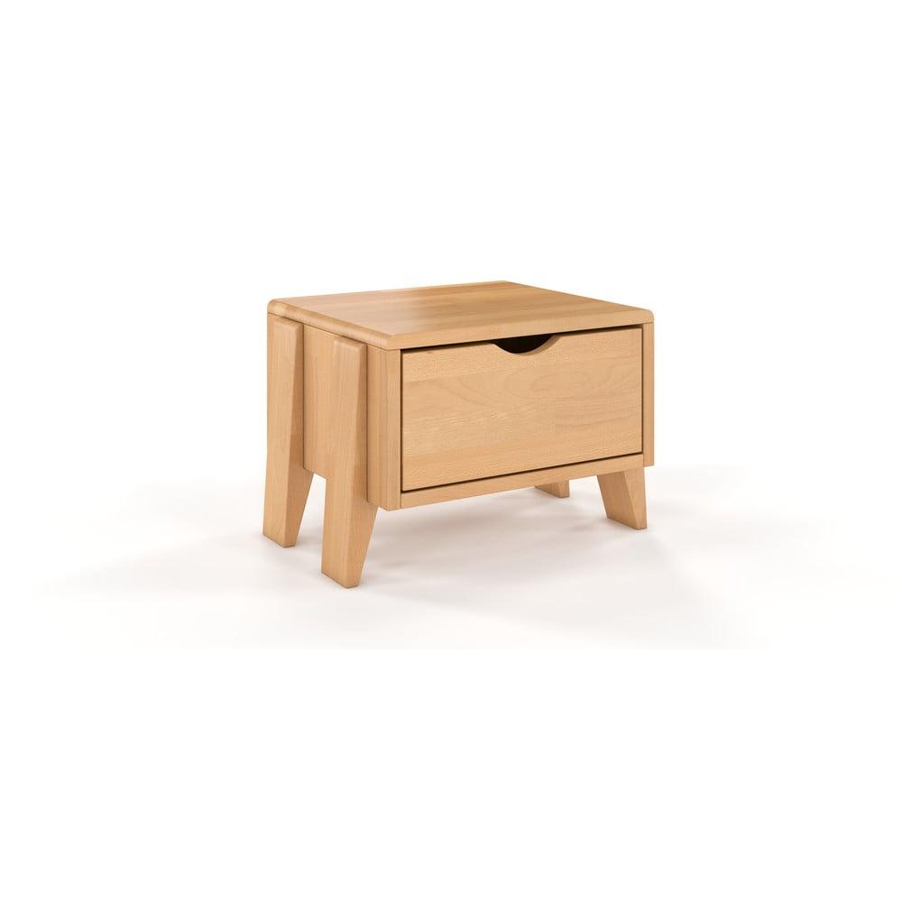 Noční stolek z bukového dřeva se zásuvkou Skandica Visby Gdynia
