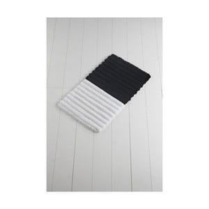 Černo-bílá koupelnová předložka Confetti Bathmats Soft Black, 60 x 100 cm