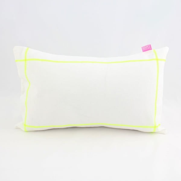 Povlak na polštář Basic Fluor yellow, 50 x 30 cm