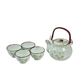 Porcelánový čajový set Green Cosmos