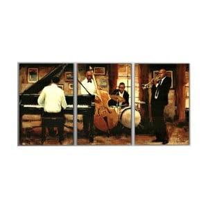3dílný obraz Music Night, 45x90 cm