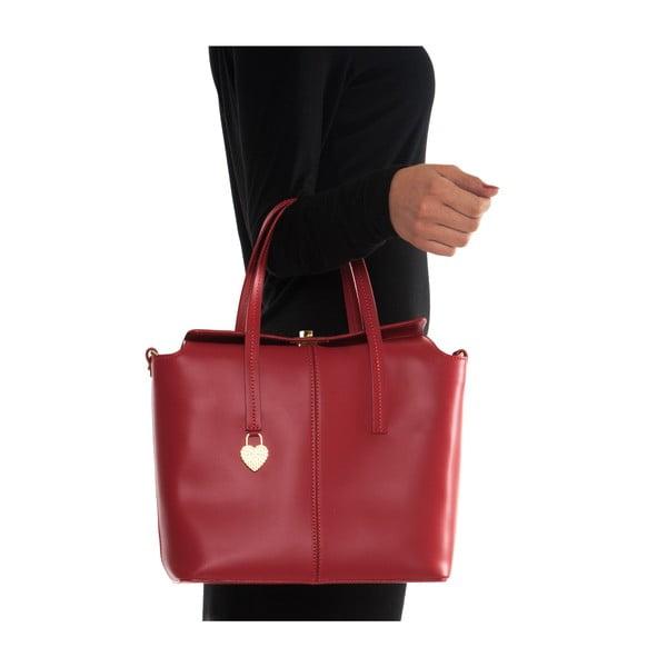 Kožená kabelka Mangotti 387, červená