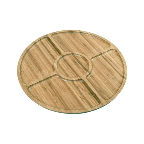 Farfurie din bambus pentru servit George, ø33cm