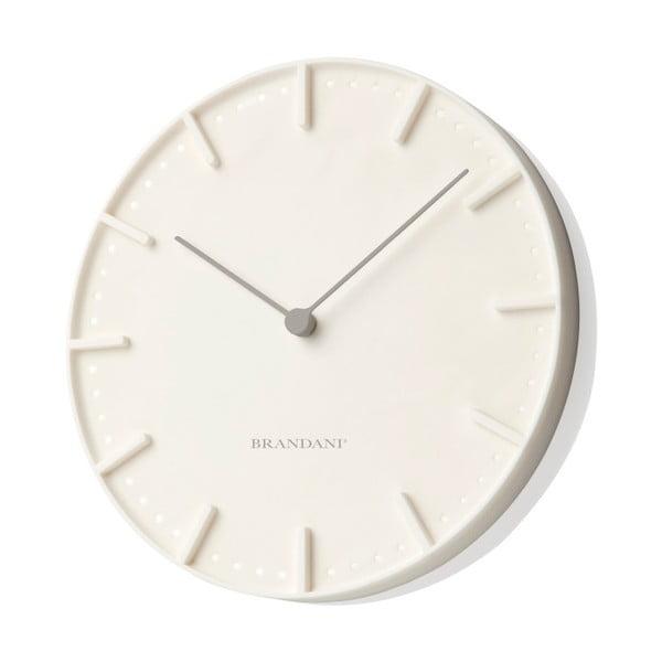 Krémové nástěnné hodiny Mister Tacche