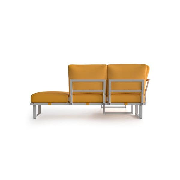 Žlutá rohová pohovka se světlými nohami Marie Claire Home Angie