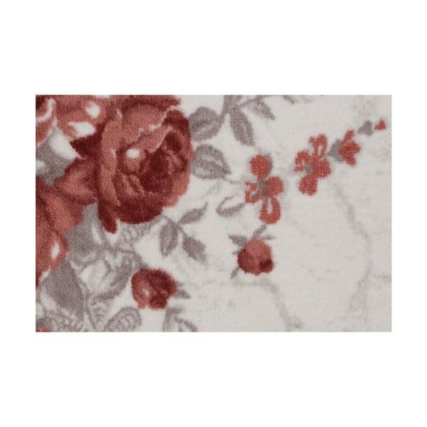 Béžový běhoun s květinami Ezra, 120 x 300 cm