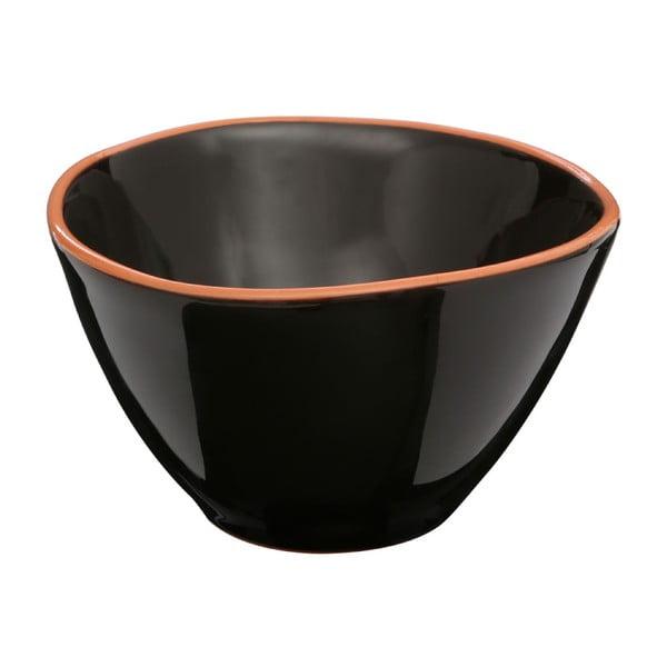 Czarna miska z terakoty Premier Housewares Calisto, ⌀ 16 cm