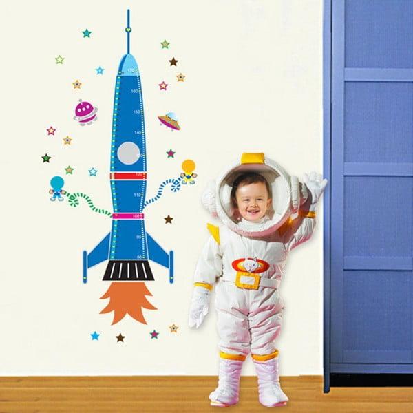 Dekorativní samolepka Colorful Rocket