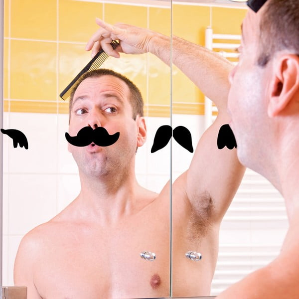 Samolepka Moustaches, 58x58 cm