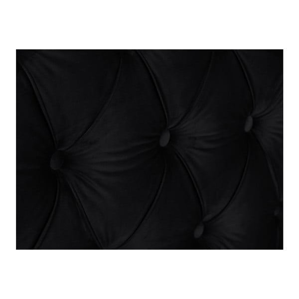 Černé čelo postele Mazzini Sofas, 140 x 120 cm