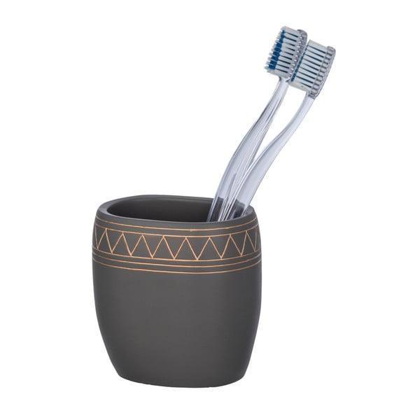Etrusk sötétszürke fogkefetartó pohár - Wenko
