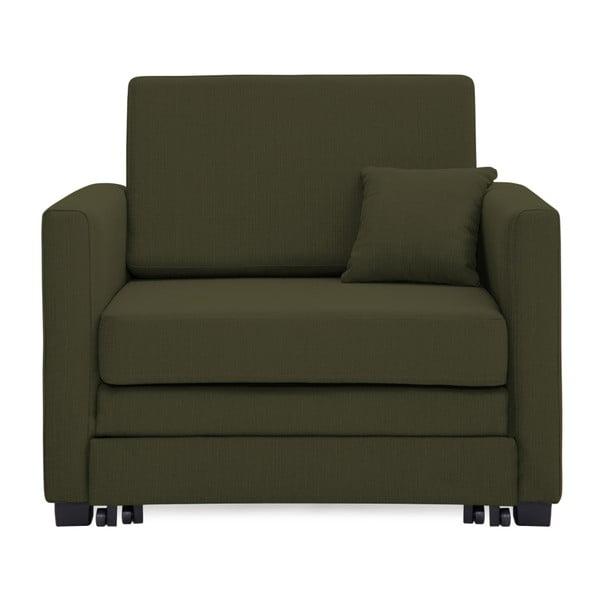Zielony fotel rozkładany Vivonita Brent