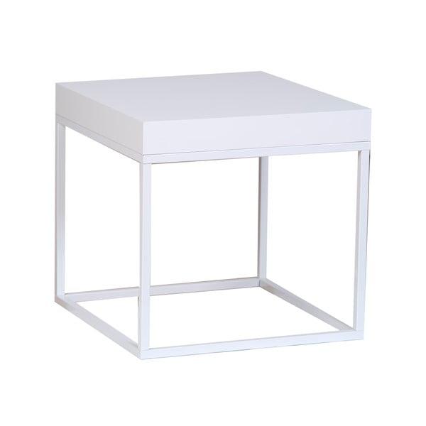 Bílý odkládací stolek TemaHome Petra