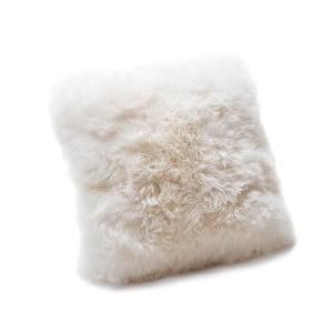 Bílý polštář z ovčí kožešiny Royal Dream Sheepskin,45x45cm