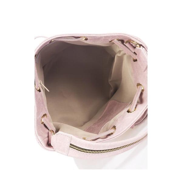 Kožená kabelka Prisha, růžová