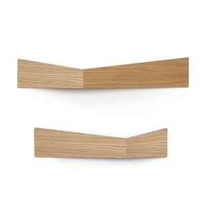Set 2 organizatoare de perete Woodendot Pelican Oak M+L