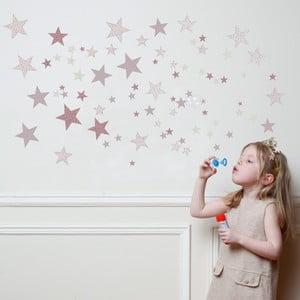Růžové nástěnné samolepky Art For Kids Constellation