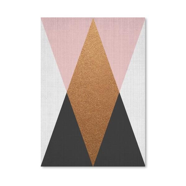 Plakát Geometric Pink Bronze