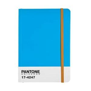 Zápisník A4 s barevnou gumičkou Diva Blue/Autumn Glory 17-4247