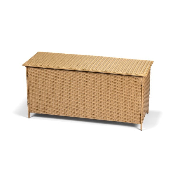 Zahradní ratanový box s úložným prostorem v hnědé barvě Timpana Galaxy, 130 x 61 cm