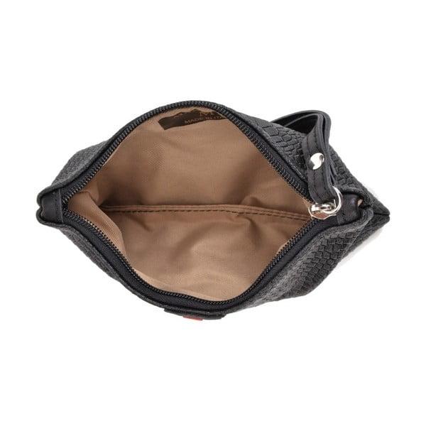 Černé kožené psaníčko Mangotti Bags Studo