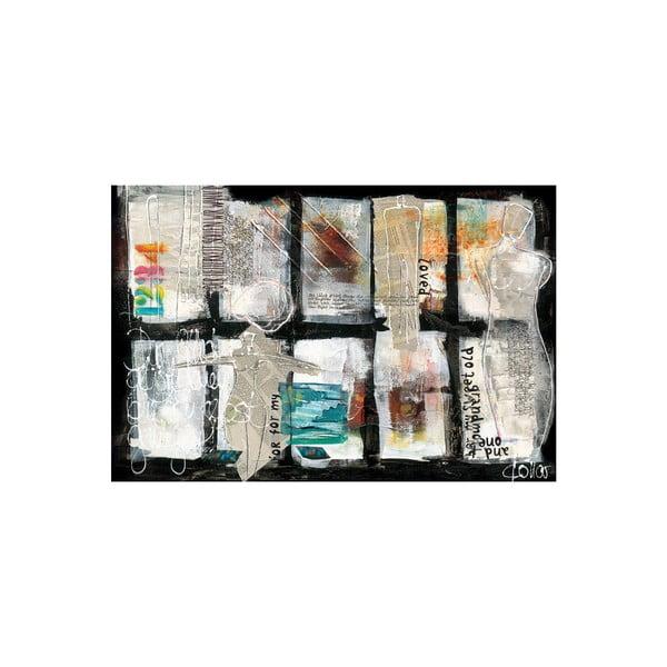 Obraz na plátně Paper Composition 80x120 cm