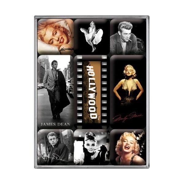 Sada magnetů Hollywood, 9 ks