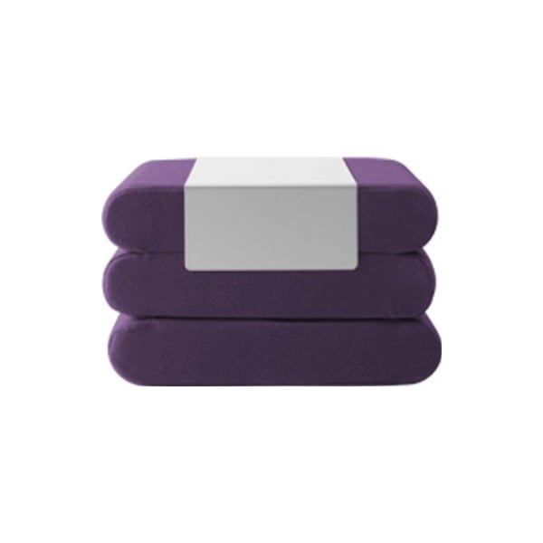 Tmavě fialový rozkládací puf Softline Bingo Eco Cotton Lilac