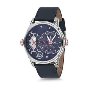 Pánské hodinky s černým koženým řemínkem Bigotti Milano Casper