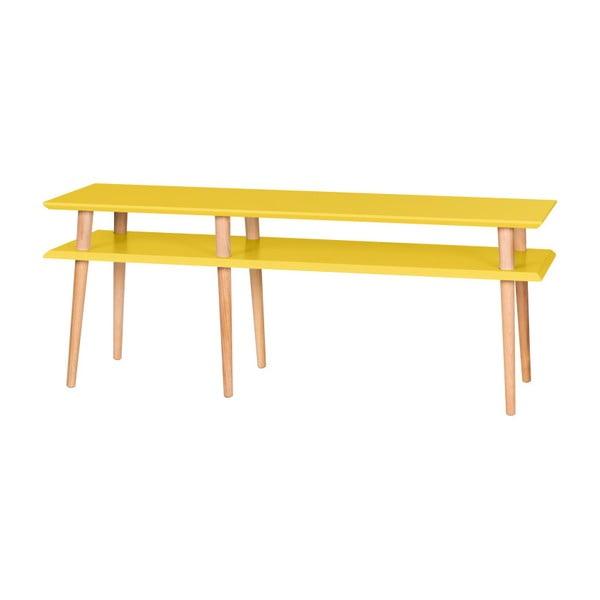 Mungo sárga dohányzóasztal, hossza 139 cm - Ragaba