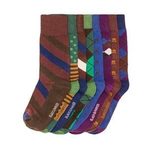 Sada 8 párů vysokých unisex ponožek Black&Parker London Slater,velikost37/43