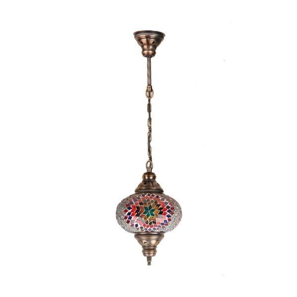 Skleněná ručně vyrobená závěsná lampa Lily, ⌀ 17 cm