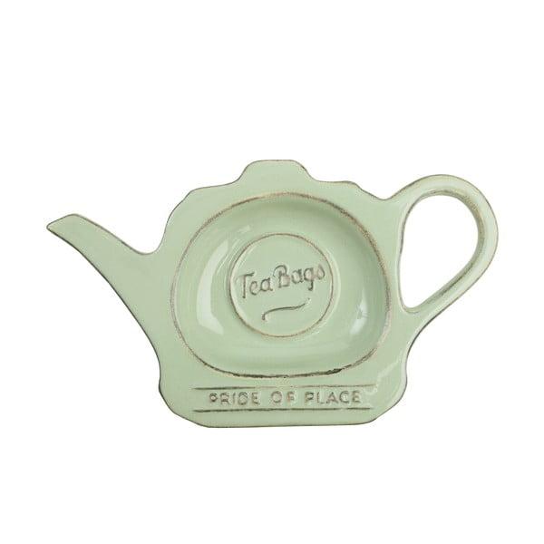 Suport din ceramică pentru plicuri de ceai T&G Woodware Pride Of Place, verde